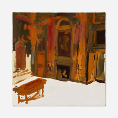 Karen Kilimnik, 'the orange whoosing solar flares in the room of Mars, the great Hall at Wetherby', 2007-08
