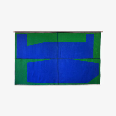 Michael Wall, 'Blue on Green', 2017