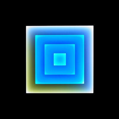 Craig Dorety, 'Concentric Squares -- Daisies against Blue Sky', 2016
