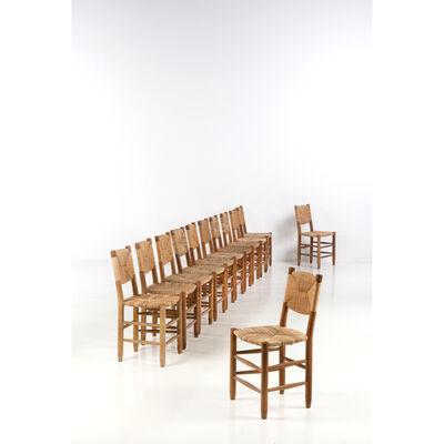 Charlotte Perriand, 'Bauché - Set of twelve chairs', near 1950