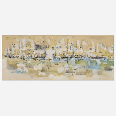 Wayne Thiebaud, 'Island Borough', 1957