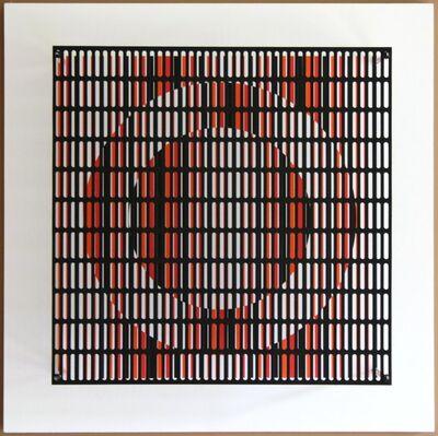 Antonio Asis, 'vibration cercles noir, orange et rouge', 2010