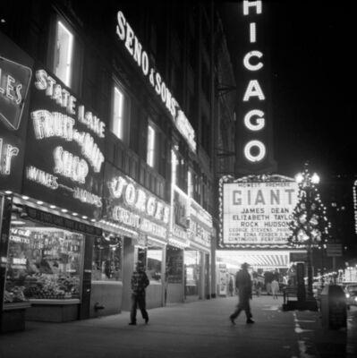 "Vivian Maier, 'VM1956W03012 - Chicago, 1956, Neon ""GIANT"" Movie Sign', Printed 2017"