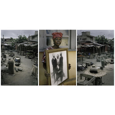 Leonce Raphael Agbodjelou, 'Untitled (EguTryptich (Code Noir)', 2014
