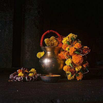 Denis Dailleux, 'Nature morte I, marché aux fleurs, Calcutta', 2019