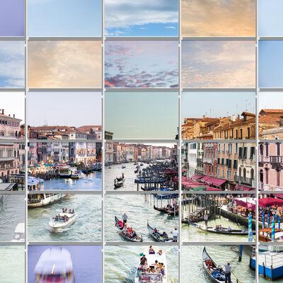Max Farina, 'RIVUS ALTUS | Variation XS78 #06 Pastel | City Landscape Photo, Italy Venice ', 2017
