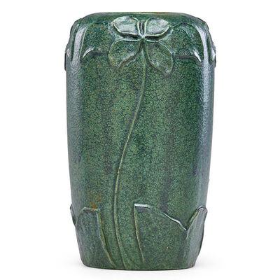 Merrimac Pottery, 'Vase with stylized flowers, Newburyport, MA', ca. 1905
