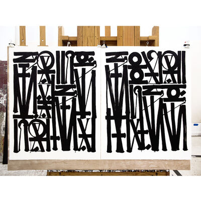 RETNA, 'Say My Name, So You Can See Me (Diptych)', 2017