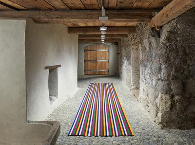Kimsooja, 'Deductive Object: Obangsaek (unrolled)', 2014