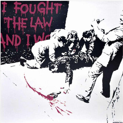 Banksy, 'I Fought the Law (pink)', 2004