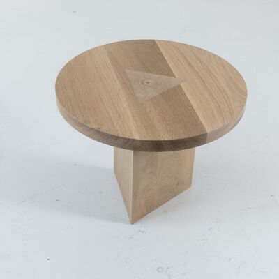 Tinatin Kilaberidze, 'Round Oak SideTable with Inlay by Tinatin Kilaberidze', 2018