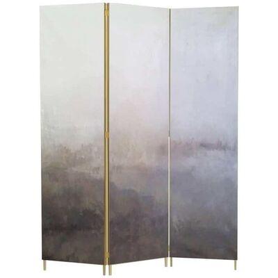 Jan Garncarek, 'Grey Hand-Painted Brass Screen by Jan Garncarek', 2017