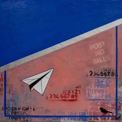 Guy Stanley Philoche, 'Blue with paper airplane', 2018