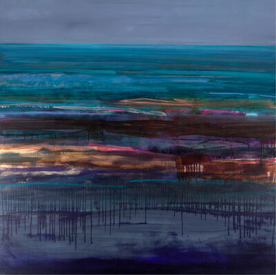 Anna Somerville, 'Aqua Coast Scape', 2020