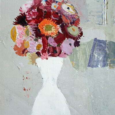 Sydney Licht, 'Still Life With Flowers in White Vase', 2018