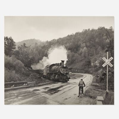 O. Winston Link, 'Abingdon Branch, Joe Dollar Waits for The Virginia Creeper, Northbound, Warrensville, North Carolina'