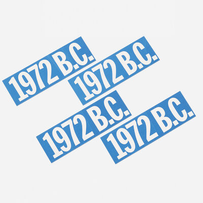Bruce Conner, 'Untitled (1972 B.C. bumperstickers set of four)', 1972