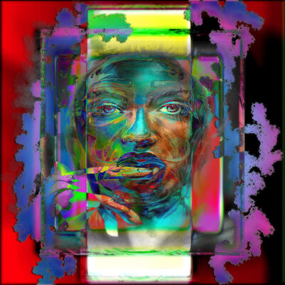 Jens Christian Wittig, 'Framed Color Face III', 2019