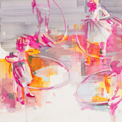 Katharine Le Hardy, 'Circles everywhere, pink', 2021