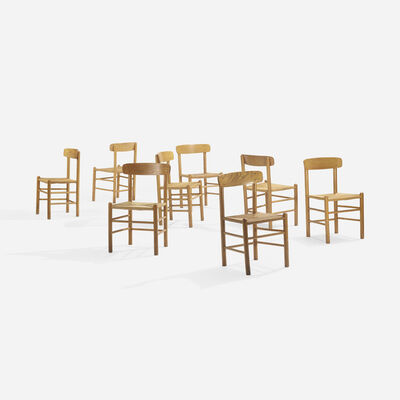In the manner of Borge Mogensen, 'dining chairs, set of eight', c. 1965