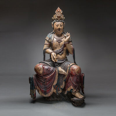 Unknown Chinese, 'Ming Dynasty Wooden Polychromed Guanyin', 1368-1644