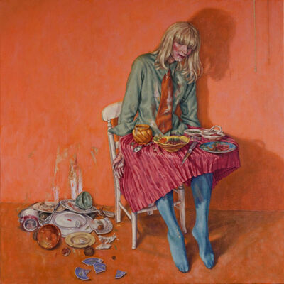 Roxana Halls, 'Girl Table', 2014