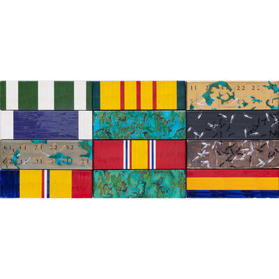 David Smith, 'Untitled (4 row ribbon)', 1990