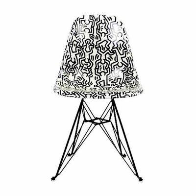 Keith Haring, 'Fiberglass Side Shell Eiffel Chair (Figures)', 2016-2019