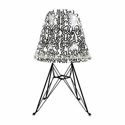 Keith Haring, 'Fiberglass Side Shell Eiffel Chair (Figures)', 2016-2019