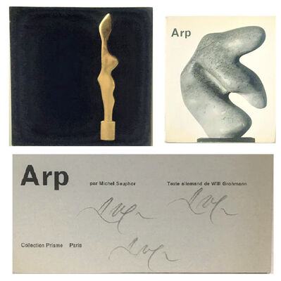 "Hans Arp, '2 PIECE SET-  'ARP', 1957, SIGNED 3-TIMES, Catalogue Collection Prisme Parissigned  &  ""Jean Arp and Sophie Taeuber-Arp"", 1960,  Catalogue Galerie Chalette NYC, Numbered Edition', 1957 & 1960"