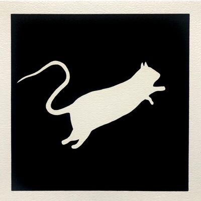 Blek le Rat, 'Rat blanc (Black)', 2020