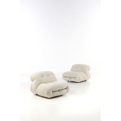 Afra & Tobia Scarpa, 'Pair of armchairs', 1970