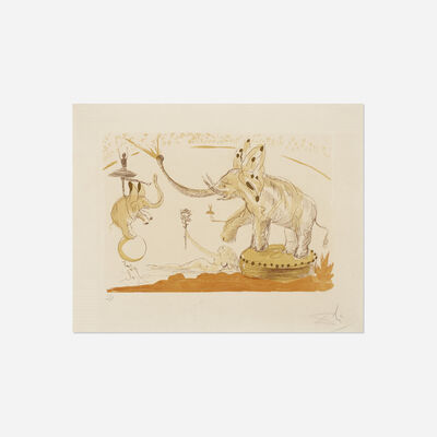 Salvador Dalí, 'Elephants from Le Cirque', 1965