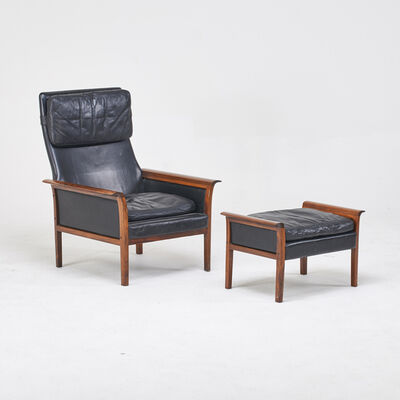 Hans Olsen, 'Tall back lounge chair and ottoman', des.  1965