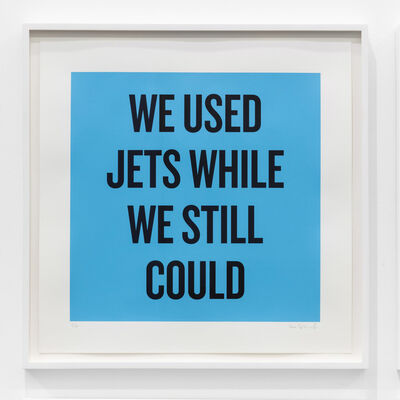 Douglas Coupland, 'We used jets while we still could', 2020