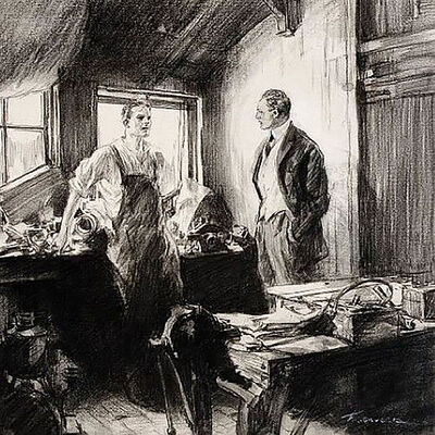 """Frederic Gruger, '""""To the Last Penny"""" Story Illustration, Saturday Evening Post, 1916', 1916"""