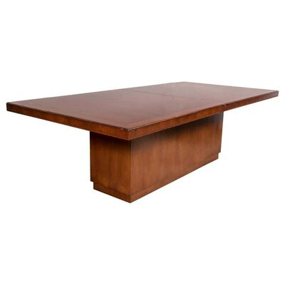 Ralph Lauren, 'Modern Hollywood Dining Table Solid Wood Walnut Veneer Labeled Lauren', 2000