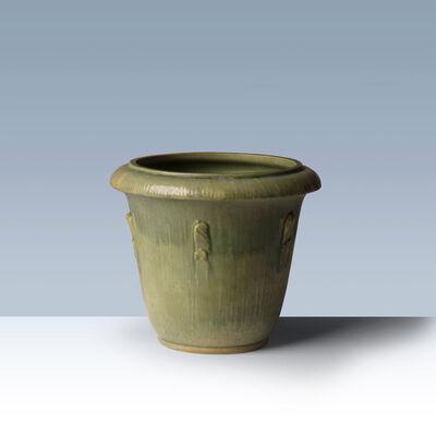 Svend Hammershøi, 'Green glazed earthenware flowerpot ', 1920-1930
