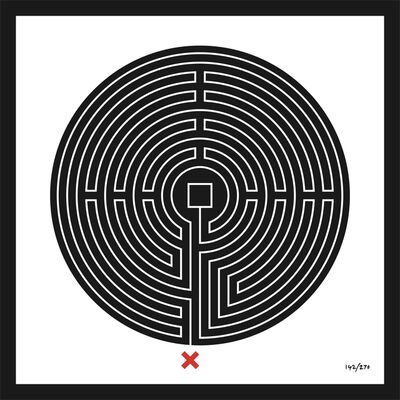 Mark Wallinger, 'Labyrinth #142 Bank', 2013