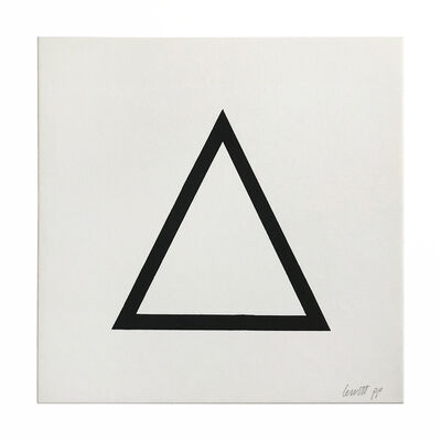 Sol LeWitt, 'Black Triangle (from Geometric Figures)', 1986