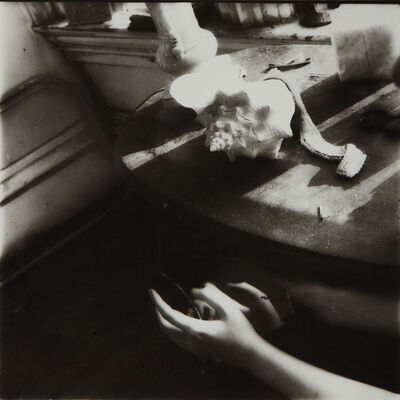 Francesca Woodman, 'But lately i find a sliver of a mirror is simply to slice an eye lid', 1979