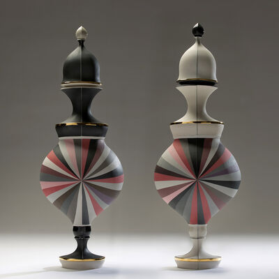 Peter Pincus, 'Red Urns in Black and White', 2016