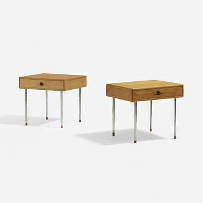 Hans Jørgensen Wegner, 'Occasional Tables, Pair', c. 1970