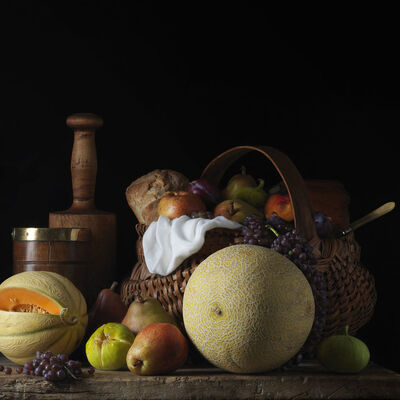 Paulette Tavormina, 'Still Life with Melon and Basket, After L.M.', 2014