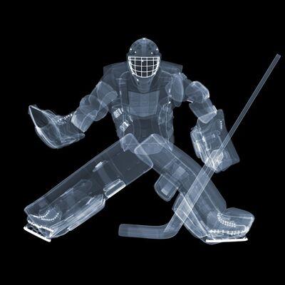 Nick Veasey, 'Ice Hockey Keeper'
