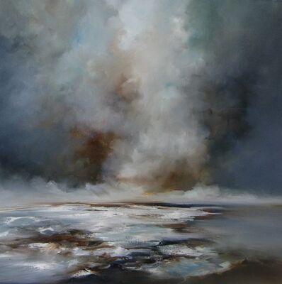 Alison Johnson, 'Fade Out - abstract stormy skyscape', 2020