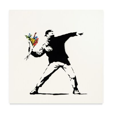 Banksy, 'Love Is In The Air (Original Canvas)', 2005