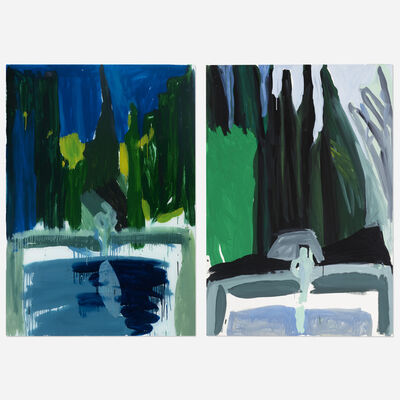 Jennifer Losch Bartlett, 'In the Garden III, #7 (diptych)', 1982
