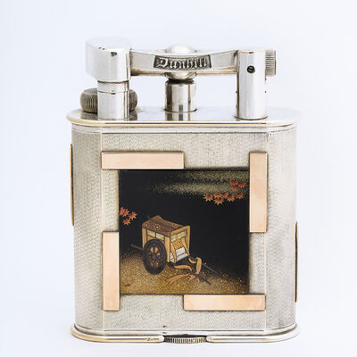 Dunhill, '1930s Desk Lighter by Dunhill & Company with Namiki Lacquer Plaques', ca. 1930