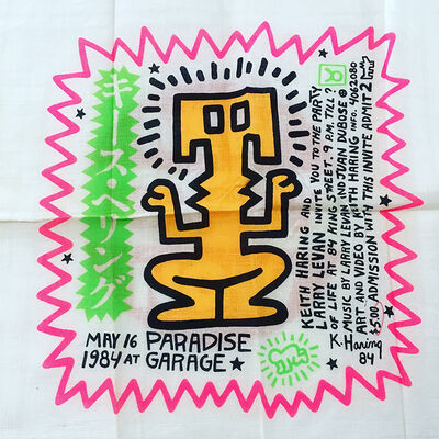 Keith Haring, 'Party of Life scarf/ invitation', 1984